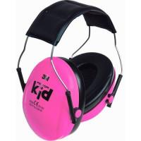 3M Peltor Kid - dětské chrániče sluchu, fluorescenční Hi-Viz, růžové