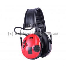 3M Peltor SportTac MT16H210F-478-RD (Černá / červená)