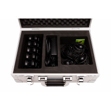 AXIWI set: Transport box with 10 AXIWI units and headsets