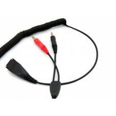 Axtel připojovací kabel QD/2 x 3,5 mm jack