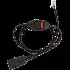 Jabra připojovací kabel kroucený, 2,5m, QD/RJ s tlačítkem mute