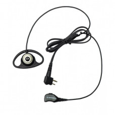 D-Shell Earpiece with PTT/Mic