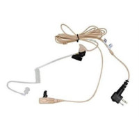2-Wire Earpiece with clear acoustic tube (Beige)