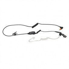 1-Wire Surveillance Kit with in-line microphone and push-to-talk, black
