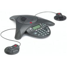Polycom SoundStation 2 s LCD displejem a porty pro rozšíření o sadu mikrofonů