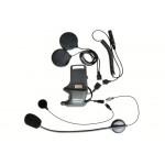 Úchyt na přilbu s mikrofonem na ohebném raménku a pevným mikrofonem