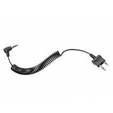 2-way Radio Cable with Straight Type for Midland or Icom Twin-pin Connector for Sena TuffTalk